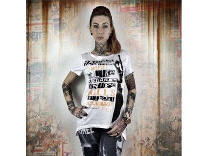Yakuza dámske tričko SHARP KNIFE GSB 10120 White
