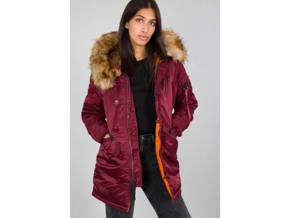 Alpha Industries N3B VF 59 Wmn dámska zimná bunda burgundy