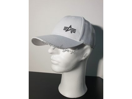 Alpha Industries Trucker Cap Small logo šiltovka white