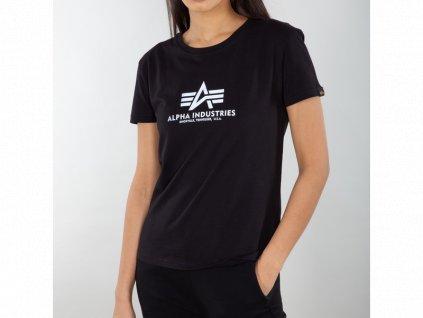 Alpha Industries New Basic T REFLECTIVE PRINT Wmn Black dámske tričko