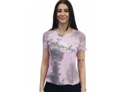 Alpha Industries Basic T BATIK Pastel Grey Batik dámske tričko