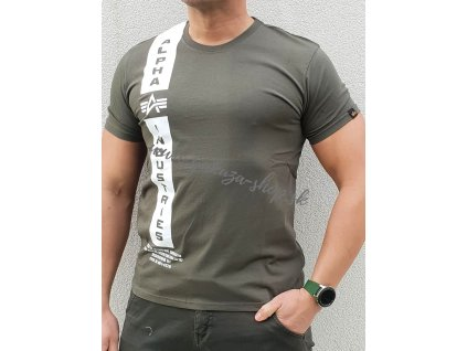 Alpha Industries DEFENCE T dark olive tričko pánske