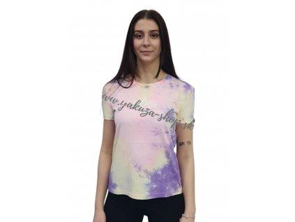 Alpha Industries Basic T BATIK Purple Batik dámske tričko