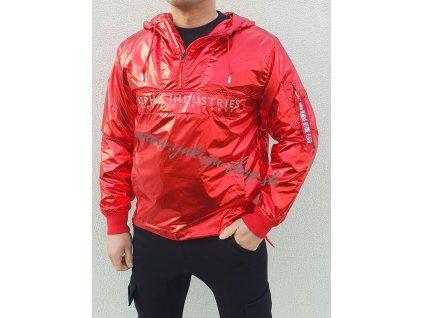Alpha Industries GLOSSY Anorak bunda pánska speed red