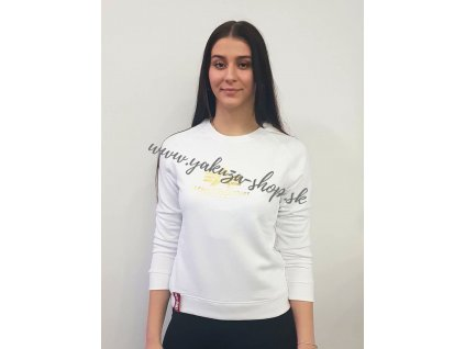 Alpha Industries dámska mikina New Basic Sweat Wmn Foil Print white yellow gold