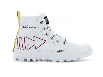 Palladium módne topánky PAMPA DARE REW FWD WHITE