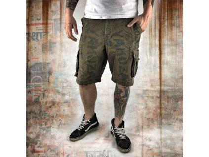 Yakuza cargo šortky ALLOVER CARGO CSB 10036 stone gray