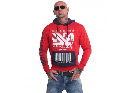 Yakuza mikina pánska NIPPON 893 HOB 17001 ribbon red