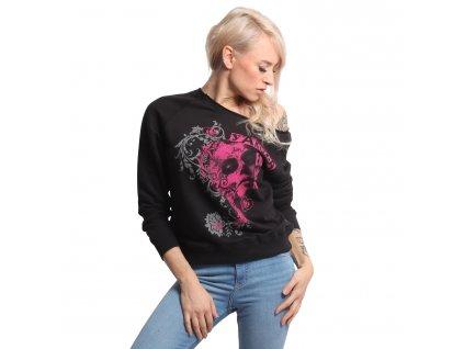 Yakuza mikina dámska MUERTE ROMANTICA Sweater GPB 17109 black