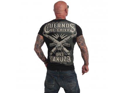 Yakuza CUERNOS DE CHIVO tričko pánske TSB 17082 black