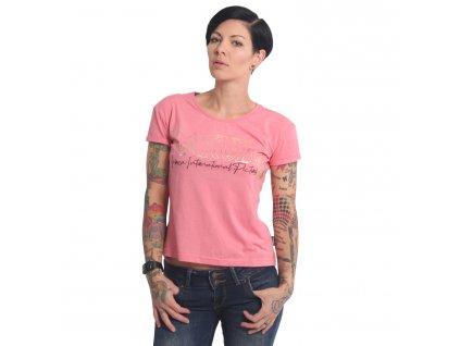 Yakuza dámske tričko GLORY BOX FIT GSB 17139 tea rose mellange