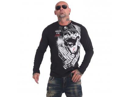 Yakuza tričko pánske s dlhým rukávom CARNAL LSB 17045 black