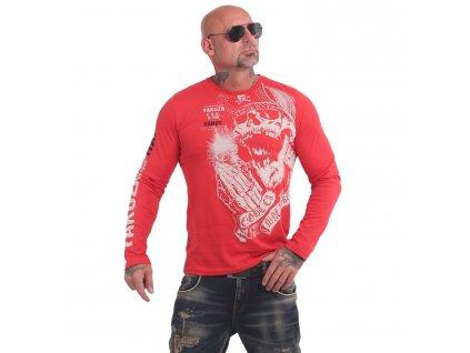 Yakuza tričko pánske s dlhým rukávom CARNAL LSB 17045 ribbon red