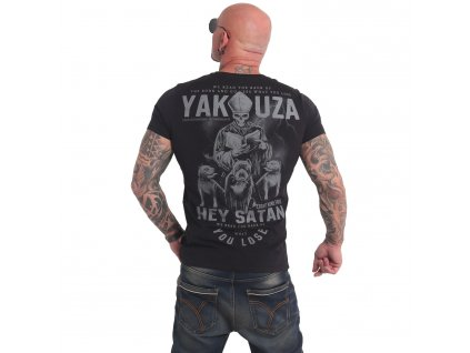 Yakuza HEY SATAN tričko pánske TSB 17023 black