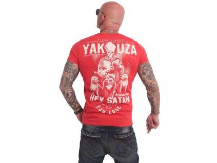 Yakuza HEY SATAN tričko pánske TSB 17023 ribbon red