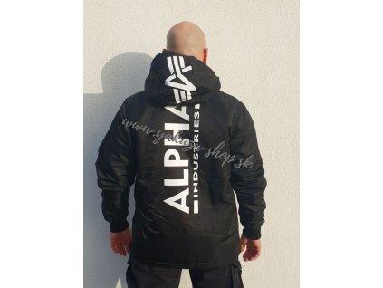 Alpha Industries HPO ANORAK Bp bunda pánska black print b