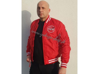 Alpha Industries NASA COLLEGE JACKET TT bunda pánska speed red