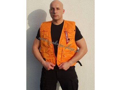 Alpha Industries vesta UTILITY VEST Alpha Orange