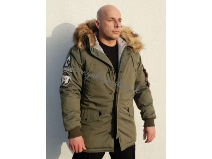 Alpha Industries zimná bunda ARCTIC DISCOVERER dark olive