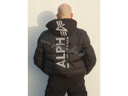 Alpha Industries MA 1 ZH Back Print Puffer FD pánska zimná bunda black a