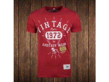 Amstaff tričko VINTAGE bordeaux Slim