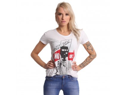 Yakuza dámske tričko NO WAY OUT BOX FIT GSB 17138 white