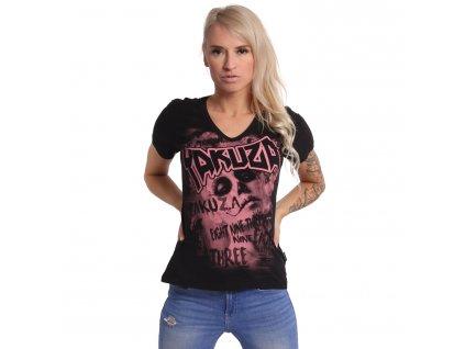 Yakuza dámske tričko ASESINATOL V Neck GSB 17135 black