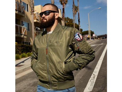 PitBull West Coast MA 1 ll olive prechodná bunda pánska d