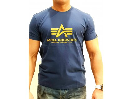 Alpha Industries Basic T Shirt New Navy tričko pánske
