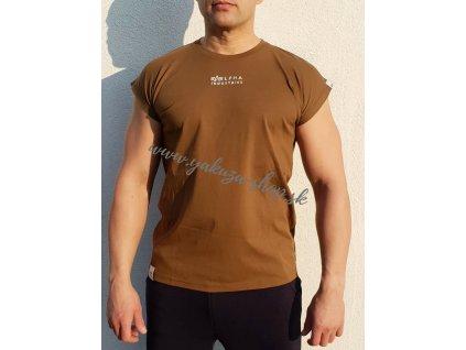 Alpha Industries ORGANIC SLEEVELESS EMB T tričko pánske jet streem organic mud