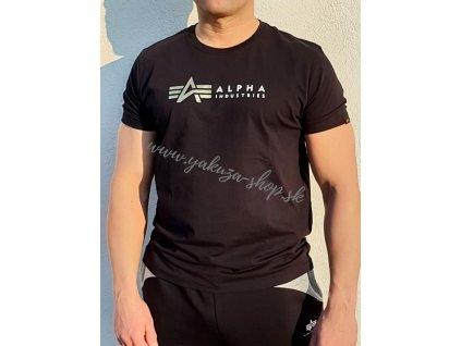 Alpha Industries LABEL T FOIL PRINT tričko pánske black