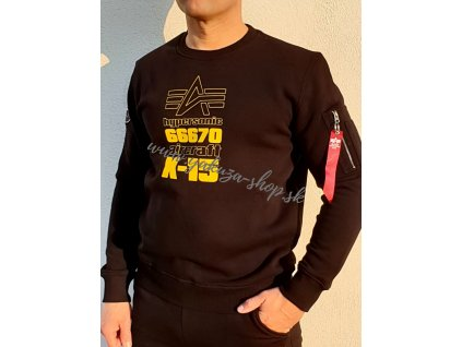 Alpha Industries ALPHA X 15 Sweater pánska mikina black