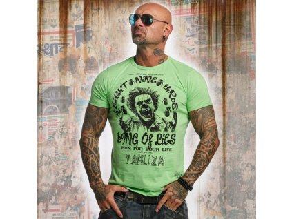 Yakuza tričko pánske King Of Lies TSB 10002 Summer Green