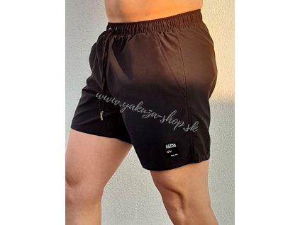 Alpha Industries plavkové šortky LABEL Short black