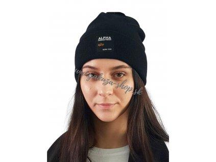 Alpha Industries LABEL Beanie black čiapka