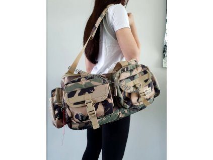 Alpha Industries TACTICAL SPECIAL OPS BAG veľká taška woodl camo 65