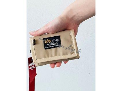 Alpha Industries Crew Wallet sand peňaženka