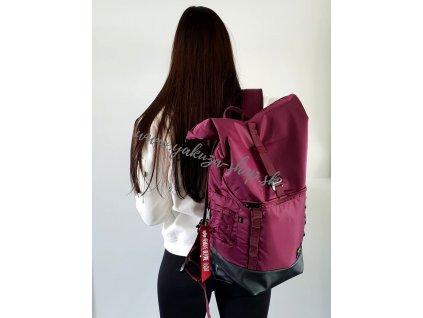 Alpha Industries Crew RT Bag ruksak burgundy