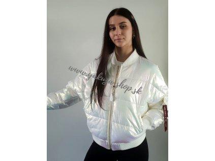 Alpha Industries MA 1 OS PUFFER FD Wmn dámska bunda white