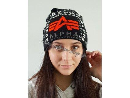 Alpha Industries AOP Beanie black čiapka