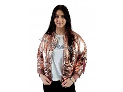 Alpha Industries MA 1 OS HOODED Wmn dámska zimná bunda metal pink
