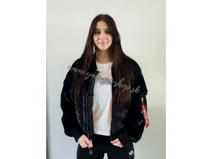 Alpha Industries MA 1 OS FUR Wmn dámska zimná bunda black