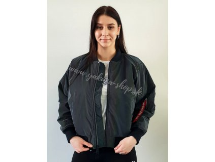 Alpha Industries MA 1 OS RAINBOW REFLECTIVE Wmn dámska zimná bunda rainbow reflective
