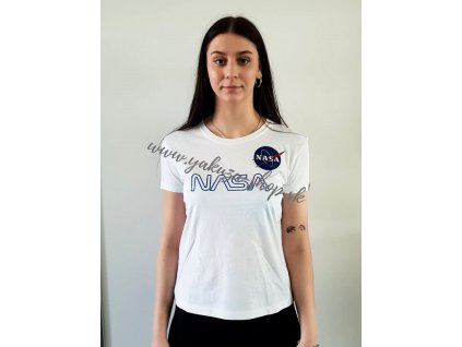 Alpha Industries NASA EMBROIDERY Wmn dámske tričko white A