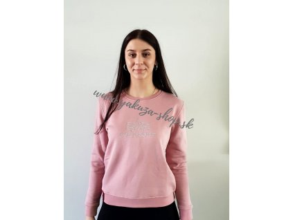 Alpha Industries dámska mikina BASIC SWEATER EMBROIDERY Wmn silver pink