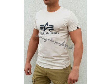 Alpha Industries Basic T Shirt Jet Stream White tričko pánske