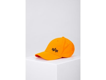 Alpha Industries Embossed Cap šiltovka Alpha Orange