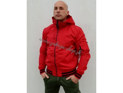 Alpha Industries bunda pánska MA 1 LW HOODED PZ speed red