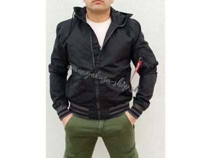 Alpha Industries bunda pánska MA 1 LW HOODED PZ black