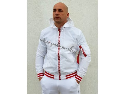 Alpha Industries bunda pánska MA 1 LW HOODED PZ white